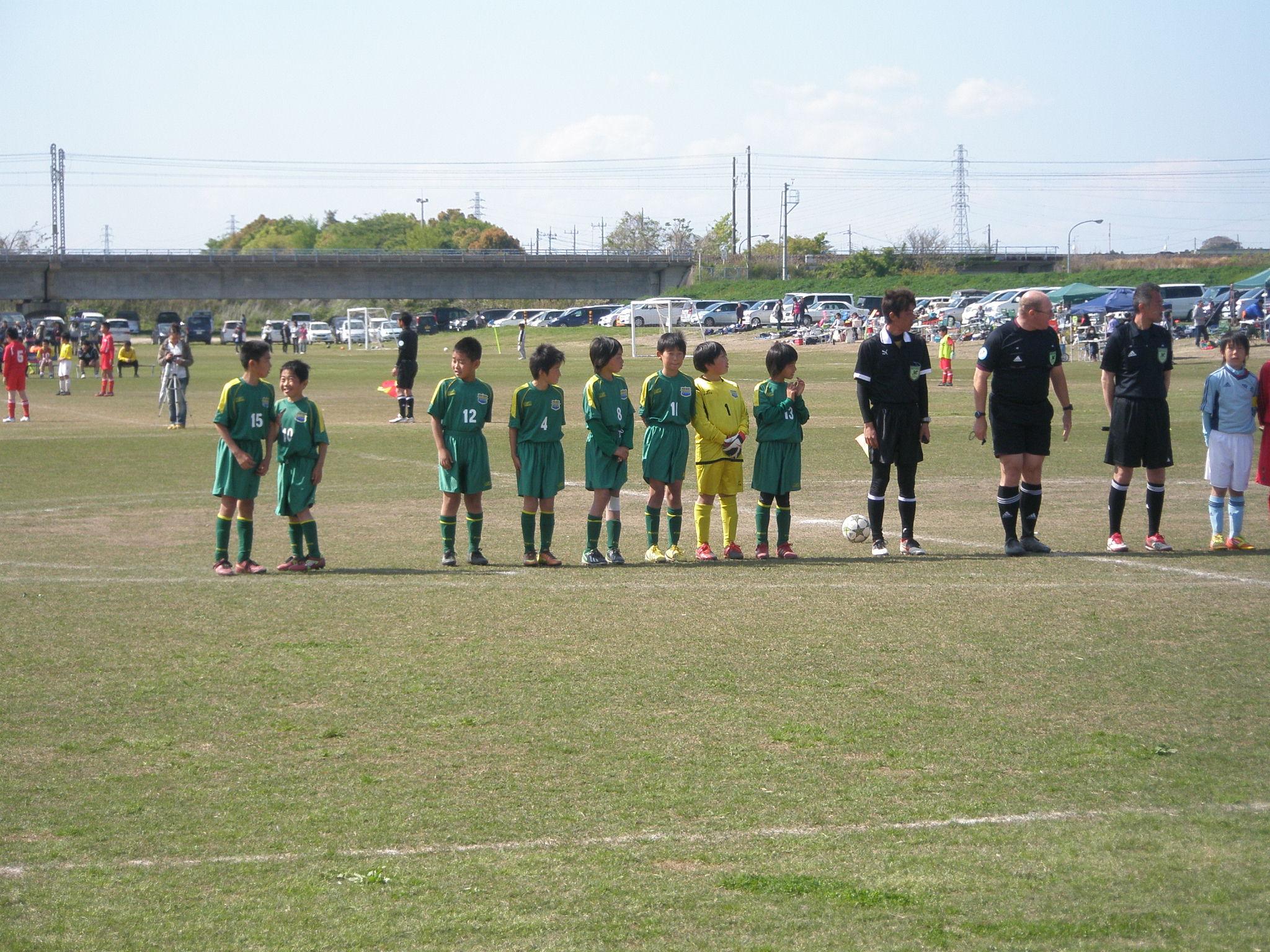 全日本少年サッカー大会中央地区1次リーグ対田彦SSS戦